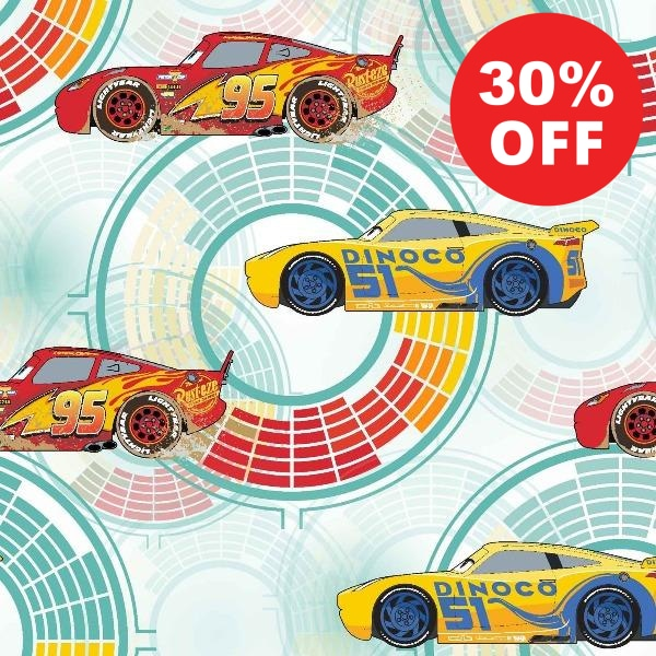 Disney Cars Need for Speed Fabric to sew