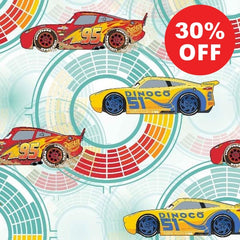 Disney Cars Need for Speed Fabric to sew - QuiltGirls®