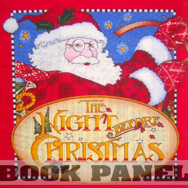 The Night Before Christmas Fabric Book Panel to Sew