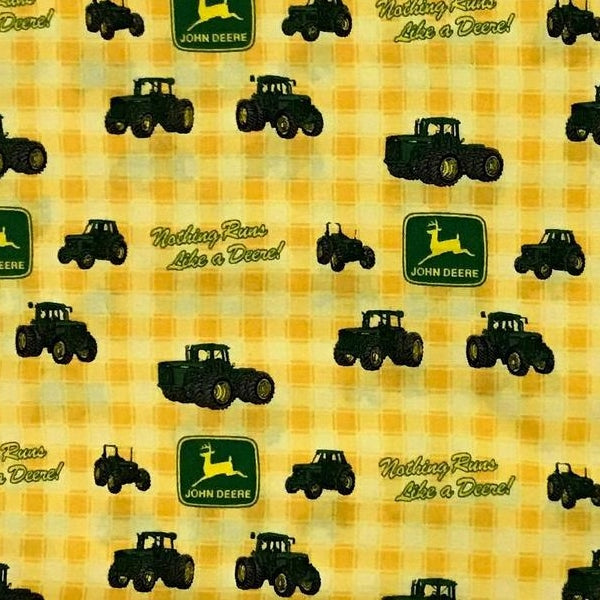 "(Remnant 18"") John Deere Nothing Runs Like a Deere Fabric to sew"