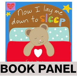 Now I Lay Me Down to Sleep Fabric Book Panel to sew - QuiltGirls®
