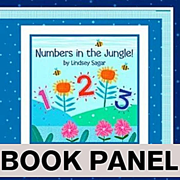 Numbers in the Jungle Fabric Book Panel to Sew