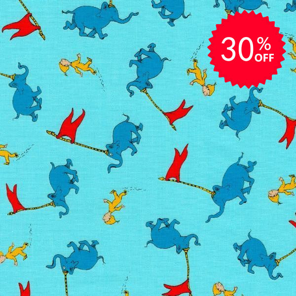 Oh, The Places You'll Go Teal Fabric to sew - QuiltGirls®