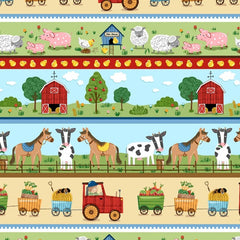 Around the Farm Stripe Fabric to sew - QuiltGirls®