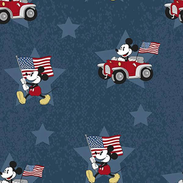 Patriotic Mickey Fabric to sew
