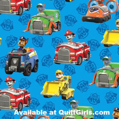 Paw Patrol Rescue Car Fabric to sew - QuiltGirls®
