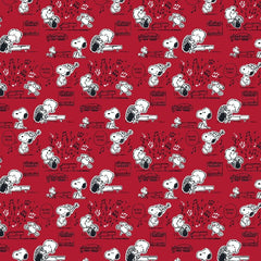 "(Remnant 18"")  Peanuts Boogie Down Fabric to sew - QuiltGirls®"