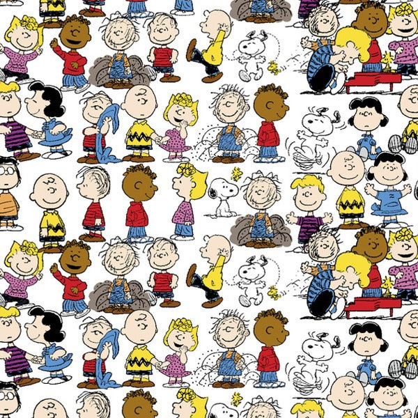 "(Remnant 18"") Peanuts Gang Fabric to sew"