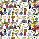 "(Remnant 18"") Peanuts Gang Fabric to sew - QuiltGirls®"