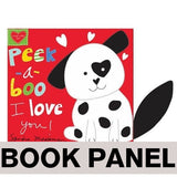 Peek-a-Boo, I Love You Fabric Book Panel to sew - QuiltGirls®