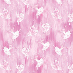 Ballerina Silhouette Pink Fabric to sew - QuiltGirls®