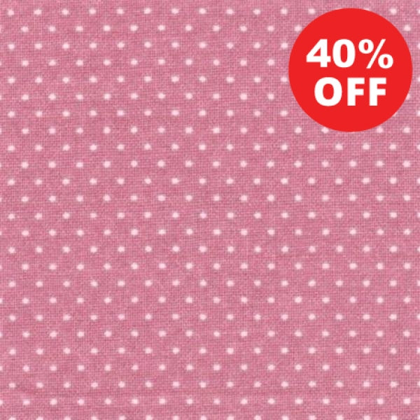 PNK Pin Dots on Pink Fabric to sew