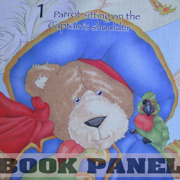 The Pirates of Treasure Bay Fabric Book Panel to Sew