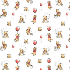 Disney's Pooh Balloon Fabric to sew - QuiltGirls®