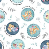 Pooh and Friends Badges Fabric to sew - QuiltGirls®