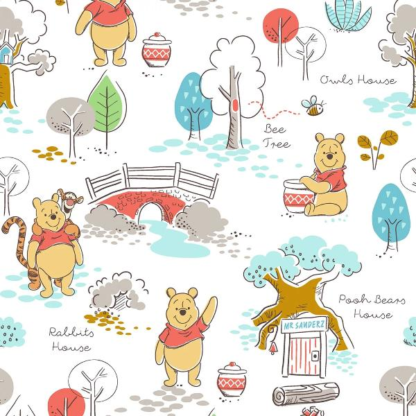 Pooh's House Fabric to sew