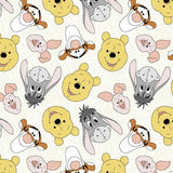 Pooh and Friends Tossed Fabric to sew - QuiltGirls®