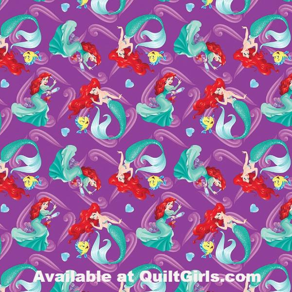 Princess Ariel Allover Fabric to sew