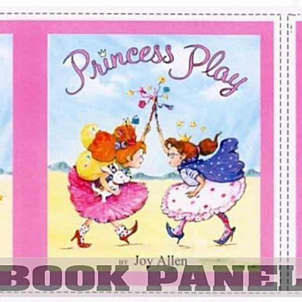 Princess Play Fabric Book Panel To Sew Quilt Girls