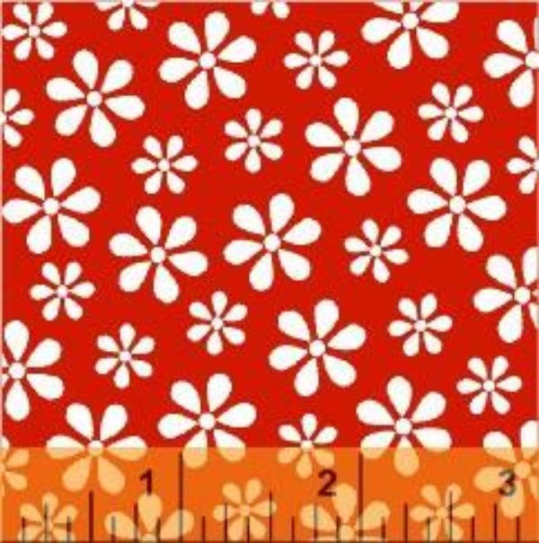 RED Windham Basics Red Floral Fabric to sew