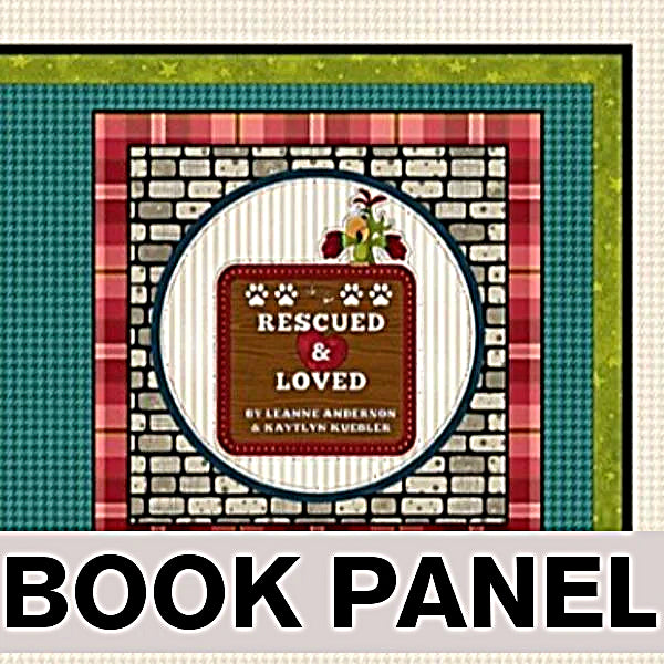 Rescued and Loved Fabric Book Panel to Sew