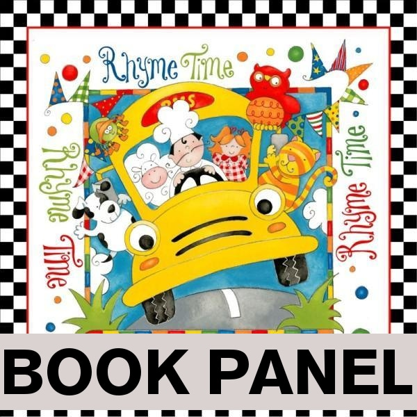 Rhyme Time Fabric Book Panel to Sew