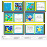 Rhyme Time Fabric Book Panel to sew - QuiltGirls®