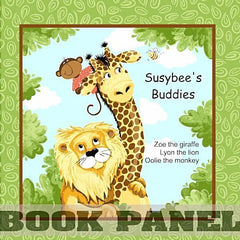 Susybee's Buddies Fabric Book Panel to sew - QuiltGirls®
