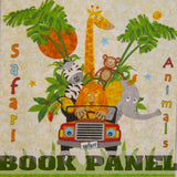 Safari Animals Fabric Book Panel to Sew - QuiltGirls®