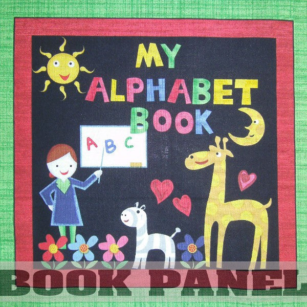 My Alphabet Book Fabric Book Panel to Sew - QuiltGirls®
