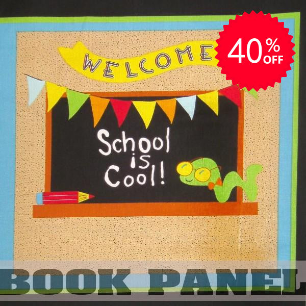 School is Cool Fabric Book Panel to Sew - QuiltGirls®