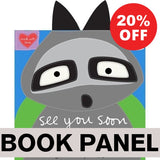 See You Soon Raccoon Fabric Book Panel to sew - QuiltGirls®