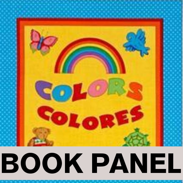 Sew and Go Colors Fabric Book Panel to sew - QuiltGirls®