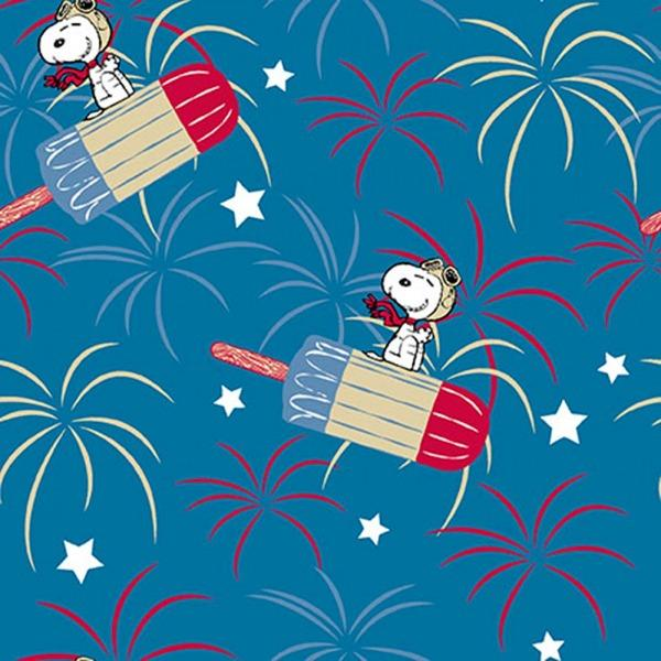 Snoopy Patriotic Popsicle Fabric to sew