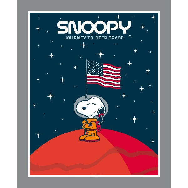 Snoopy Journey into Deep Space Quilt Panel to sew - QuiltGirls®