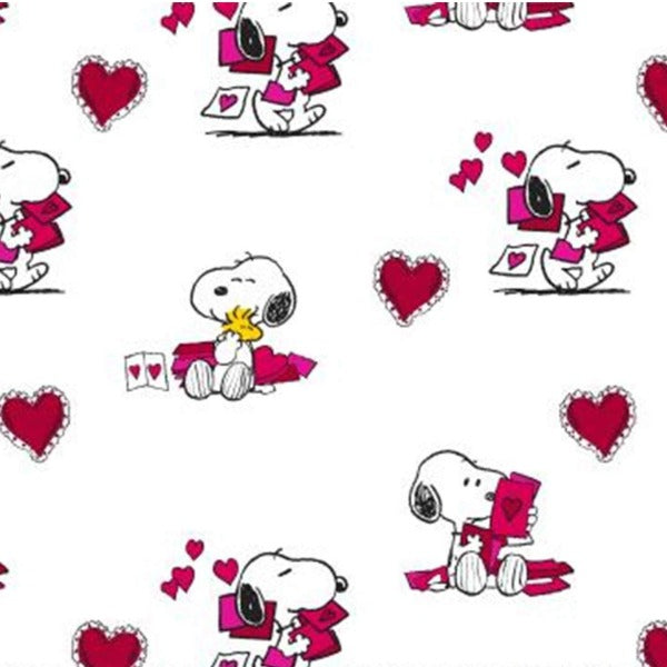 Snoopy Valentine Fabric to sew