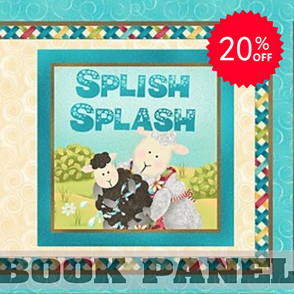 Splish Splash Fabric Book Panel to Sew