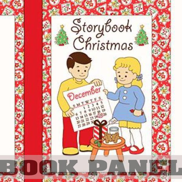 Storybook Christmas Fabric Book Panel to Sew - QuiltGirls®