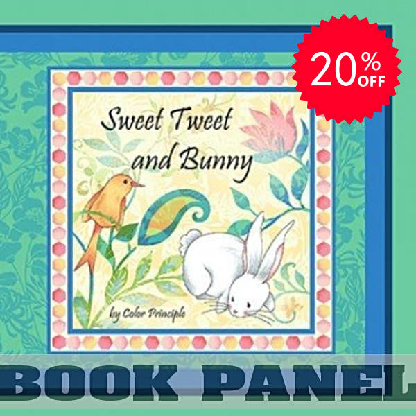 Sweet Tweet and Bunny Fabric Book Panel to Sew