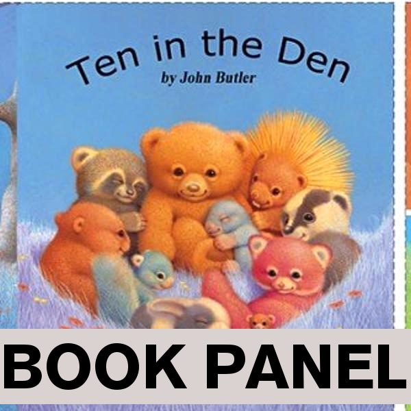 Ten in the Den Fabric Book Panel to Sew - QuiltGirls®