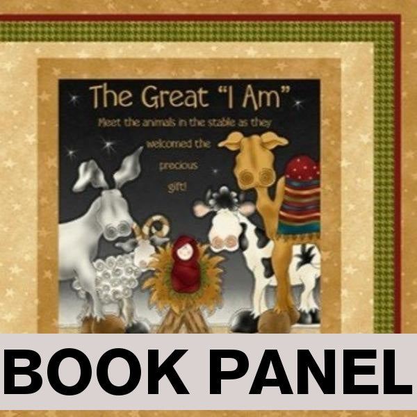 The Great I Am Fabric Book Panel to Sew