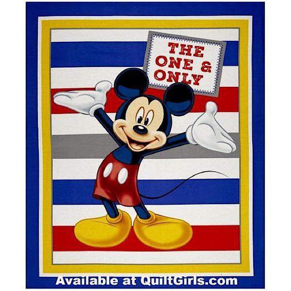 Mickey The One and Only Quilt Panel to sew