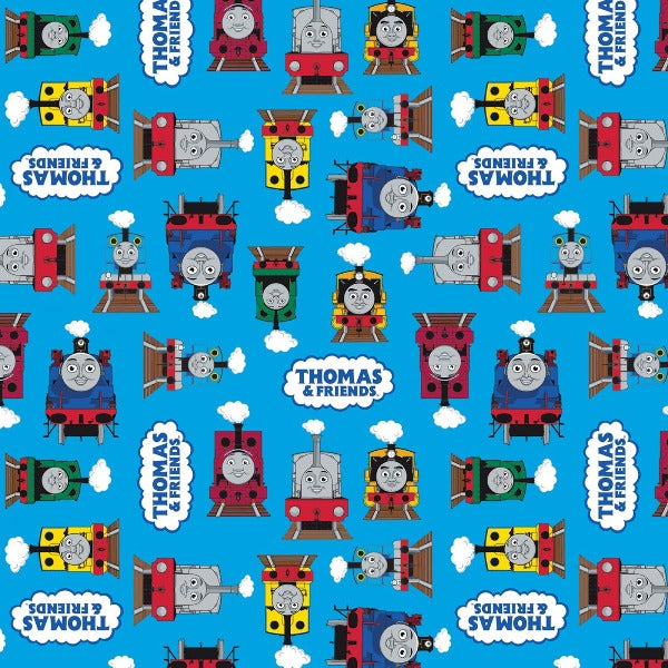 Thomas and Friends All Aboard Blue Fabric to Sew - QuiltGirls®