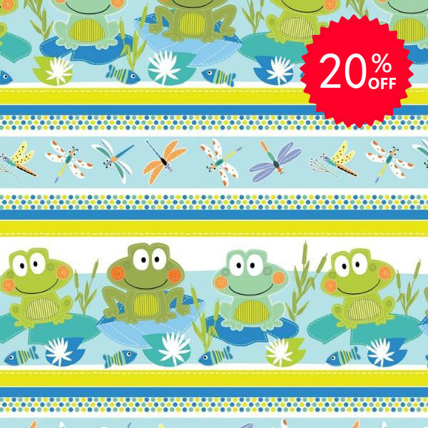 Toadally Cute Stripe Fabric to sew