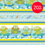Toadally Cute Stripe Fabric to sew - QuiltGirls®