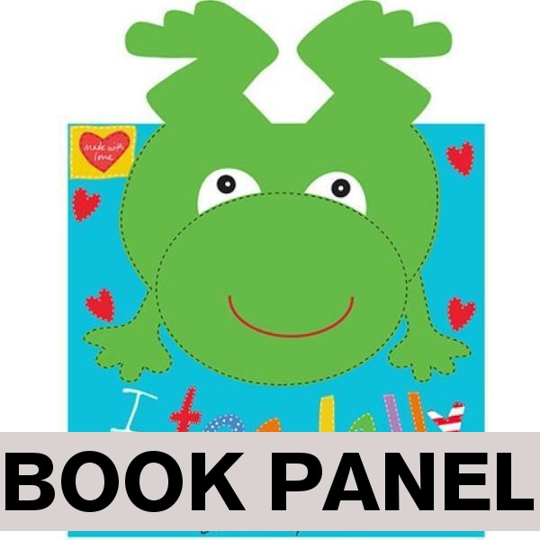 I Toadally Love You Fabric Book Panel to sew - QuiltGirls®