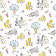 "(Remnant 18"") Pooh's A Togetherish Sort of Day Fabric to sew - QuiltGirls®"