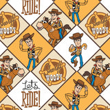 Toy Story 4, Woody Fabric to sew - QuiltGirls®