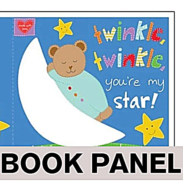 Twinkle Twinkle You're My Star Fabric Book Panel to sew - QuiltGirls®