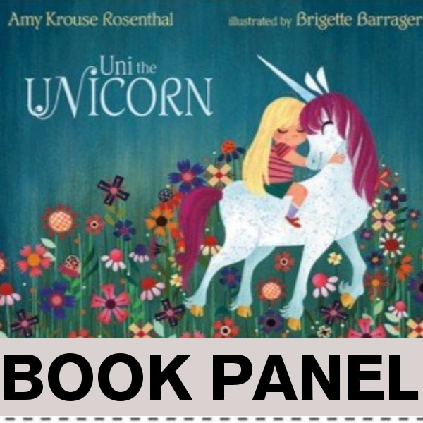 Uni The Unicorn Fabric Book Panel to Sew